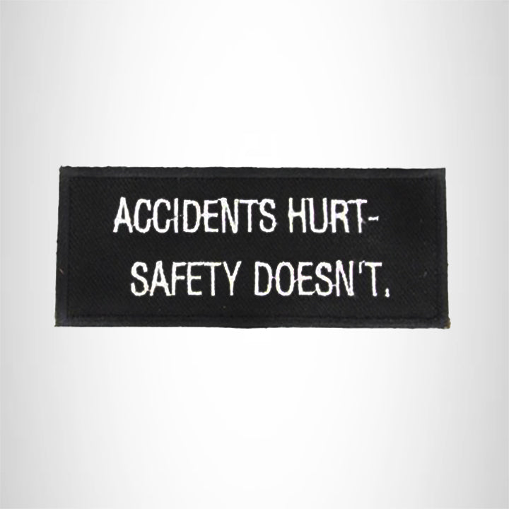 Accidents Hurt Iron on Small Patch for Biker Vest SB960