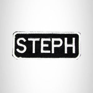 Steph Iron on Name Tag Patch for Motorcycle Biker Jacket and Vest NB140