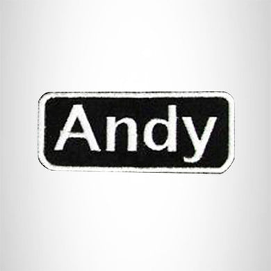 Andy Iron on Name Tag Patch for Motorcycle Biker Jacket and Vest NB141