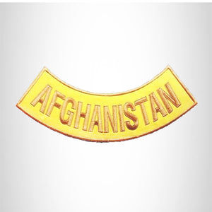 AFGHANISTAN Gold Yellow Bottom Rocker Patch for Vest BR416
