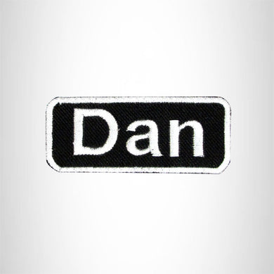 Dan Iron on Name Tag Patch for Motorcycle Biker Jacket and Vest NB149