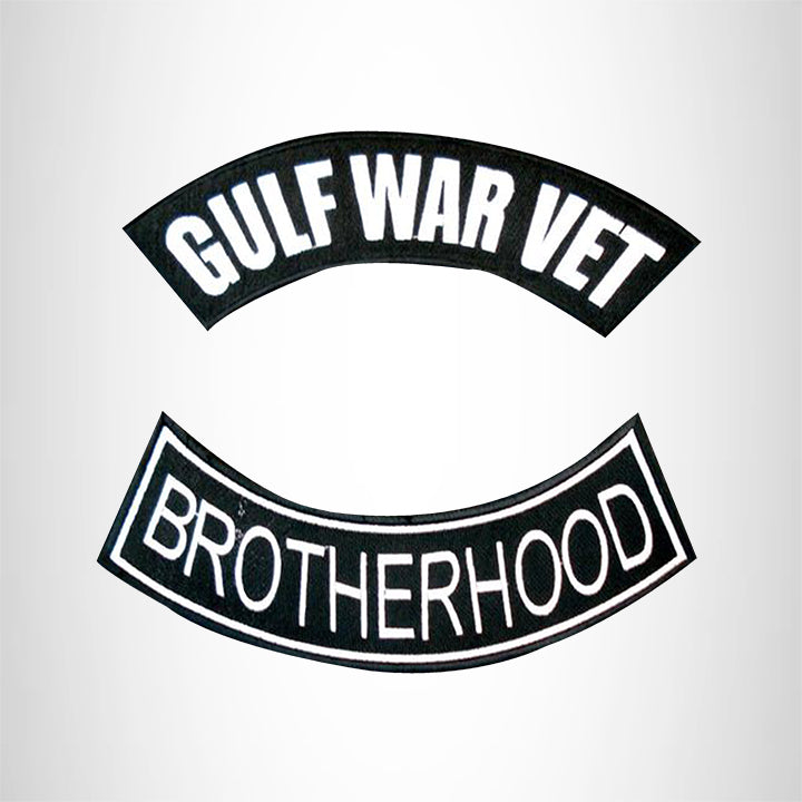 GULF WAR VET BROTHERHOOD 2 Patches Set Sew on for Vest Jacket