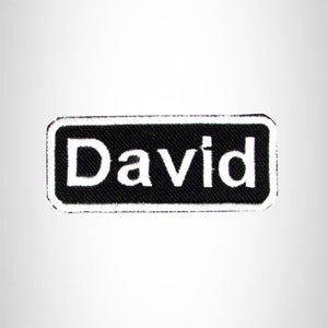 Embroidered Name Tag Patch DAVE