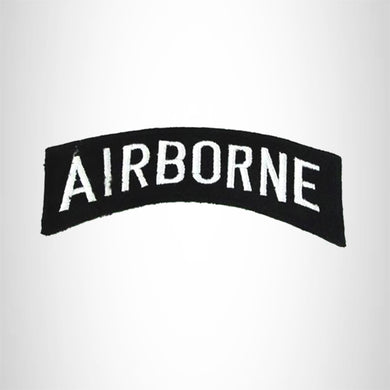 Airborne American Veterans Small Military Rocker Patch