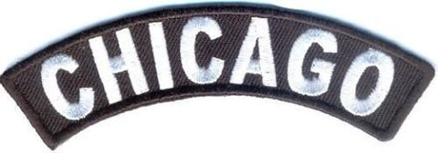 Chicago Rocker Patch Small Embroidered Motorcycle NEW Biker Vest Patch