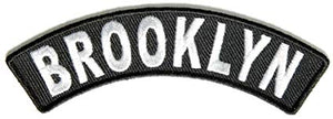 Brooklyn Rocker Patch Small Embroidered Motorcycle NEW Biker Vest Patch-STURGIS MIDWEST INC.