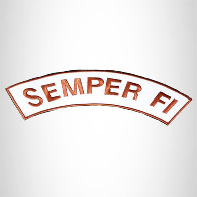 U.S MARINES CORPS SEMPER FI Iron on Top Rocker Patch for Biker Vest Jacket