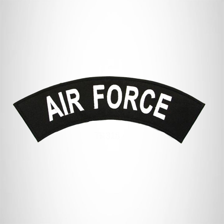 AIR FORCE White black Iron on Top Rocker Patch for Vest TR318