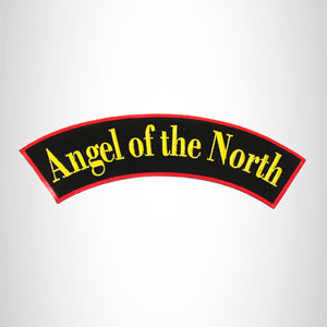 ANGEL of the NORTH Iron on Top Rocker Patch for Motorcycle Biker Vest TR321