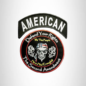 AMERICAN Defend Your Rights the 2nd Amendment 2 Patches Set for Vest Jacket