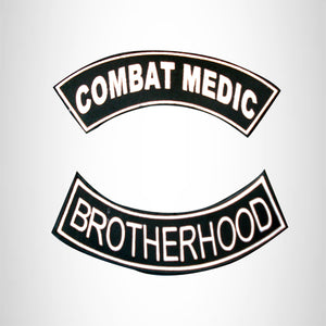 Combat Medic Brotherhood 2 Patches Set Sew on for Vest Jacket