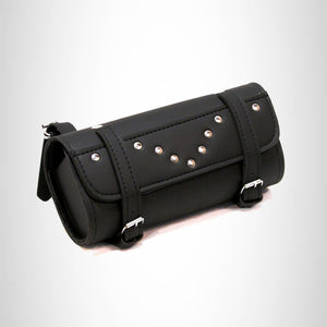 Motorcycle Tool Bag Front Fork Bag Handlebar Bar Bag Studded 2 Strap TLB498S