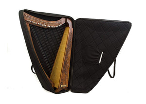 42 INCH TALL Irish Celtic LEVER Harp 32 String Extra Strings Lever and Carrying case-STURGIS MIDWEST INC.