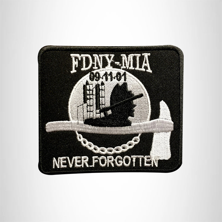 FDNY-MIA 9-11-01 Small Patch Iron on for Vest Jacket SB529