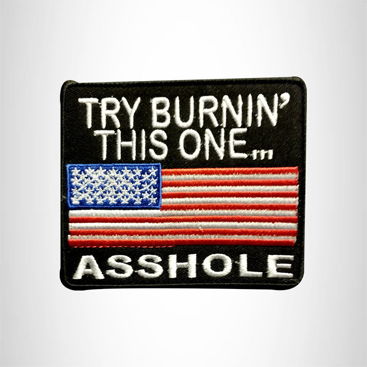 Try Burnin This one Asshole Small Patch Iron on for Vest Jacket SB530