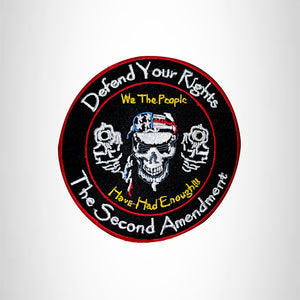 Defend your Rights The Second Amendment Small Patch Iron on for Vest SB532