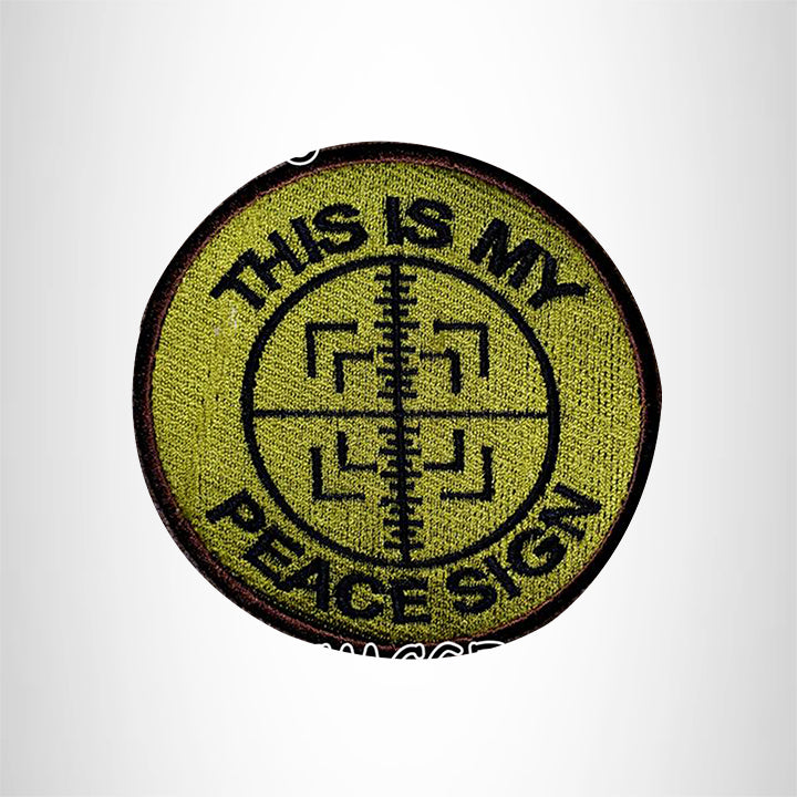 This is My Peace Sign Small Patch Iron on for Vest Jacket SB535