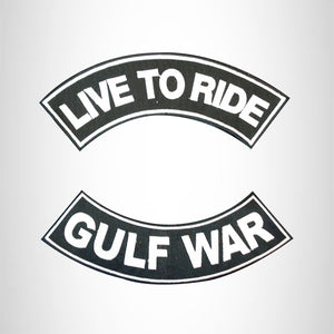 LIVE TO RIDE GULF WAR Rocker 2 Patches Set Sew on for Vest Jacket