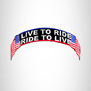 Live to Ride Ride to Live Top Rocker Patch for Biker Vest Jacket TR338
