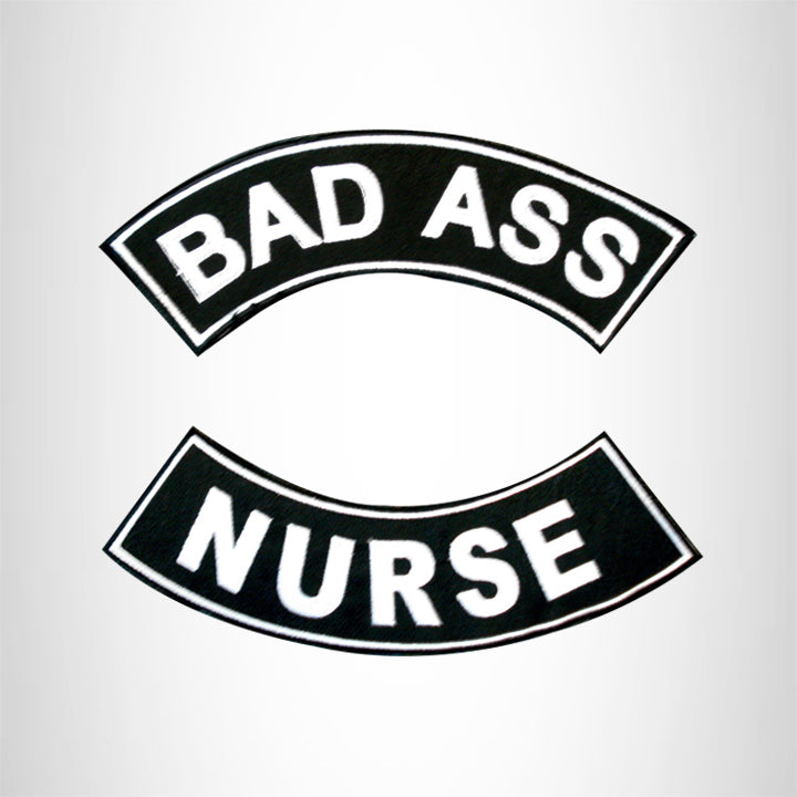 Bad Ass Nurse 2 Patches Set Sew on for Vest Jacket