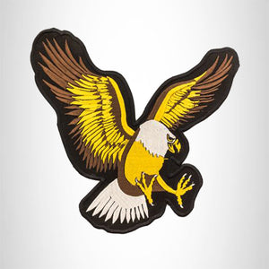 SCREAMING EAGLE White Brown and Yellow on Black Center Patch for Vest