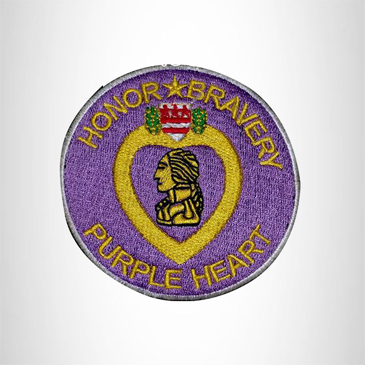Honor and Bravery Purple Heart Small Patch for Vest SB536