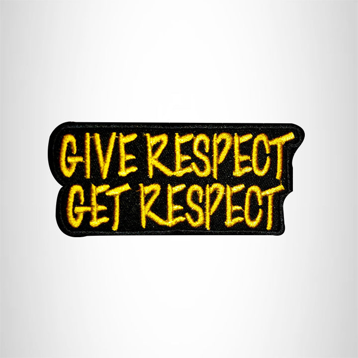 GIVE RESPECT GET RESPECT Small Patch Iron on for Vest Jacket SB545
