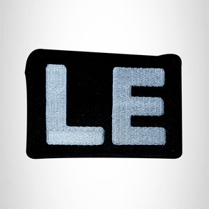 LE White on Black Small Patch for Vest Jacket SB548