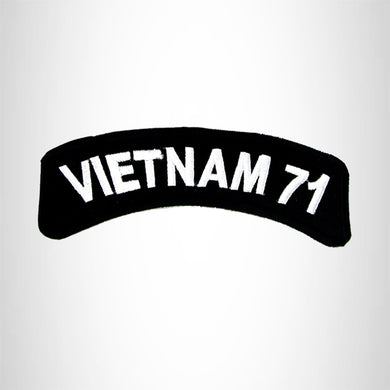 Vietnam 71 American Veterans Small Military Rocker Patch