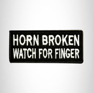 Horn Broken Watch for Finger Small Patch Iron on for Vest Jacket SB514