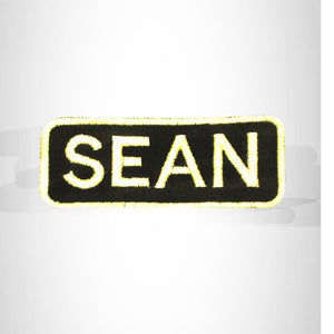 Sean White on Black Iron on Name Tag Patch for Biker Vest NB256