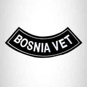 BOSNIA VET Bottom Rocker Iron on Patch for Biker Vest BR437