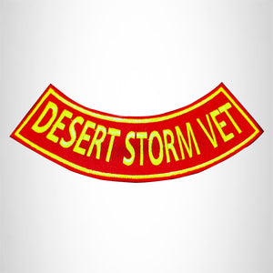 Desert Strom Vet Iron on Bottom Rocker Patch for Vest jacket