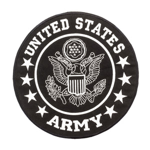 "US Army Back Patch Large 10"" size Black & White For Motorcycle Vest Or Jacket-STURGIS MIDWEST INC."