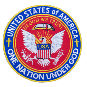 ONE NATION UNDER GOD IN GOD WE TRUST PATCH LARGE CHRISTIAN TEA PARTY PATRIOT-STURGIS MIDWEST INC.
