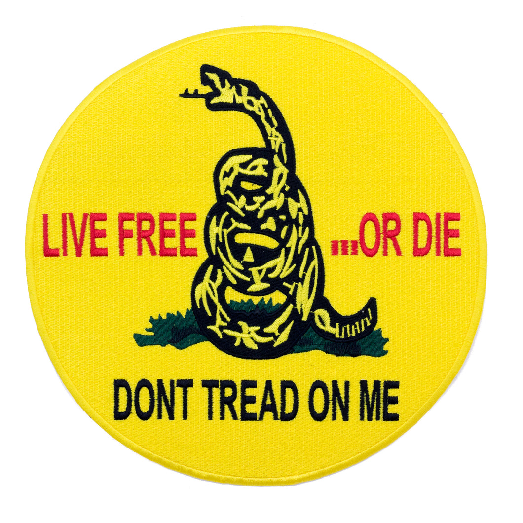 Don't Tread on Me Large Back Patch for Patriot Motorcycle Biker Vest Jacket Tea-STURGIS MIDWEST INC.