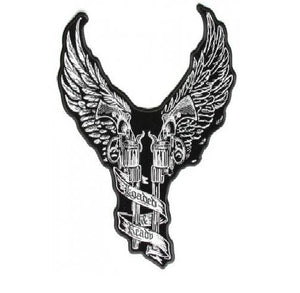 Pistols with Wings Patch Loaded & Ready Back Patch Biker vest Jacket 10x8-STURGIS MIDWEST INC.