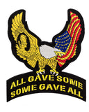 All Gave Some gave all Eagle Patch Large Pow Back patch for vest jacket-STURGIS MIDWEST INC.