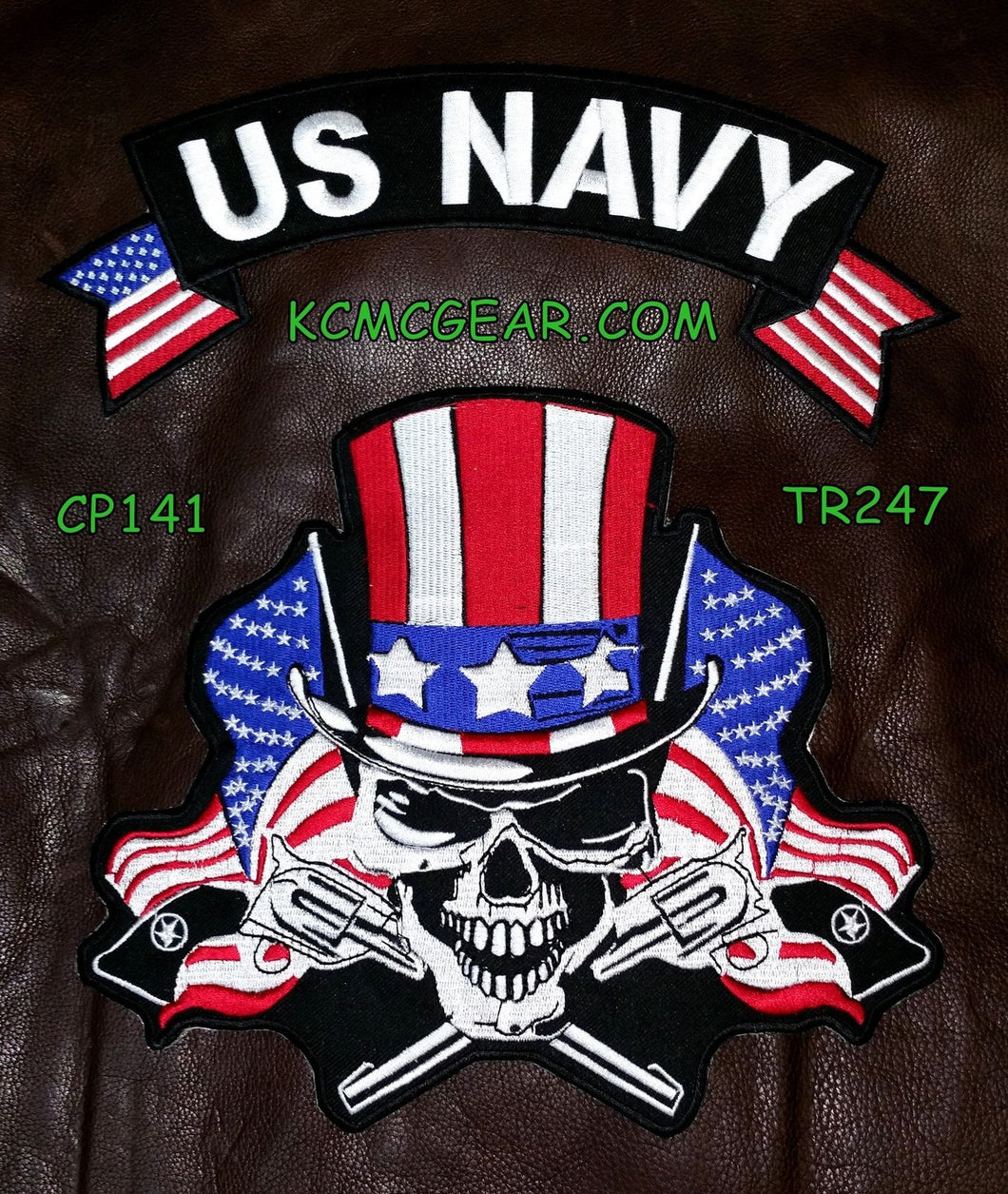 U.S. Navy Skull & Flags Patch Patches Embroidered Custom Patches Biker Patches-STURGIS MIDWEST INC.