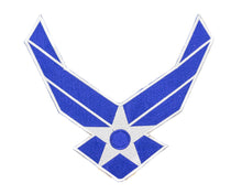 Load image into Gallery viewer, AIR FORCE WINGS MODERN White on Blue Patch for Vest-STURGIS MIDWEST INC.
