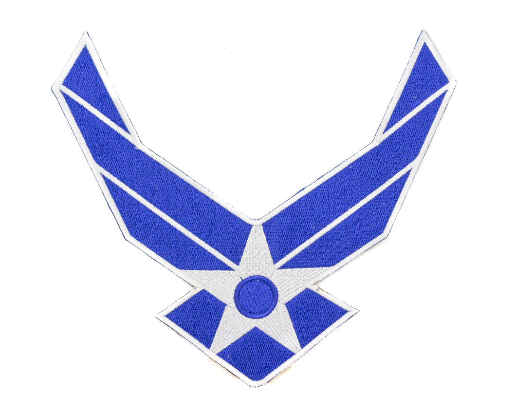AIR FORCE WINGS MODERN White on Blue Patch for Vest-STURGIS MIDWEST INC.