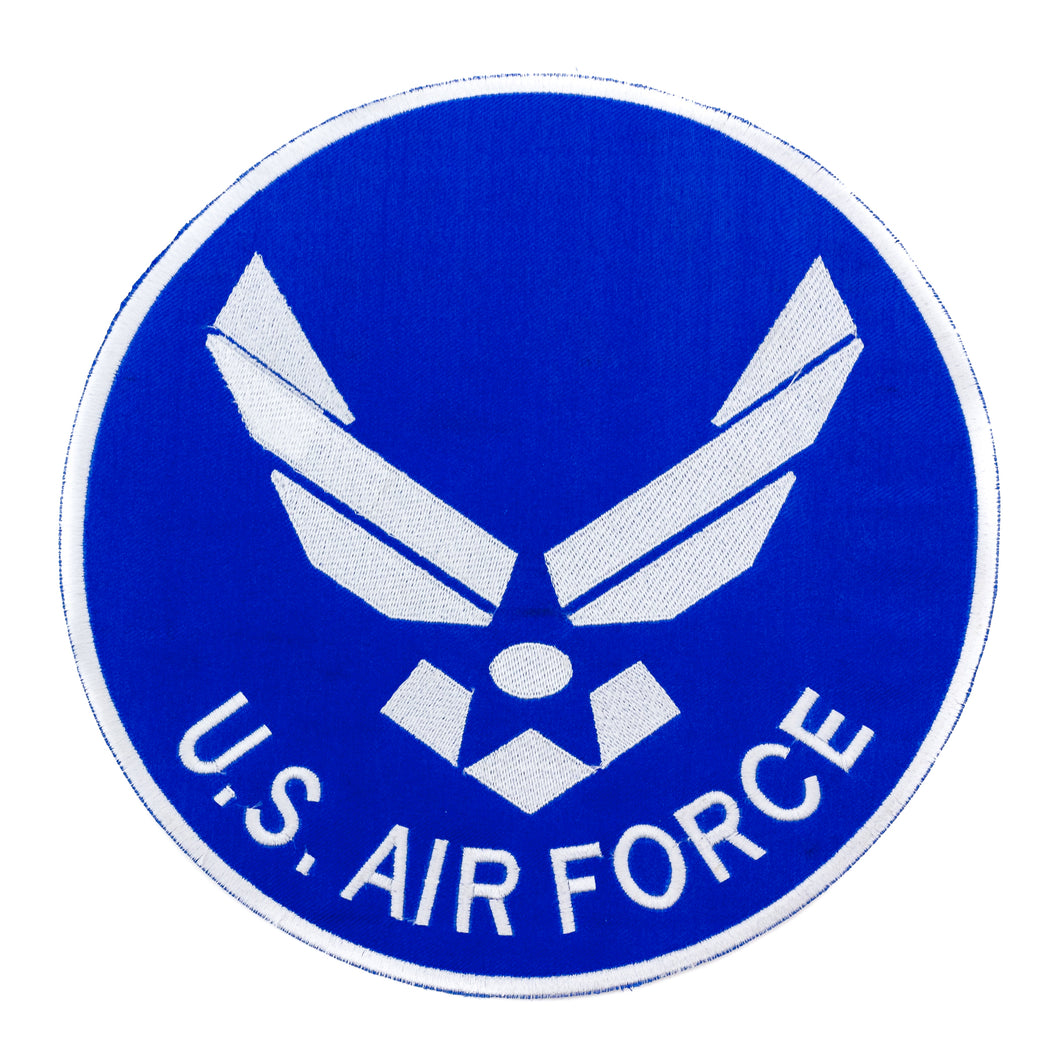U.S. AIR Force White on Dark Blue patch for vest jacket-STURGIS MIDWEST INC.