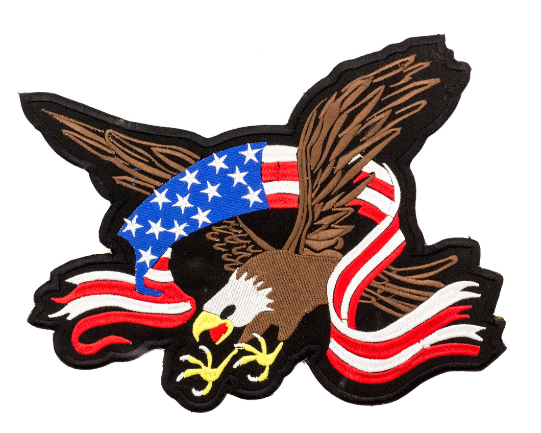 SCREAMING EAGLE with Flag Banner Patch for Vest Jacket-STURGIS MIDWEST INC.