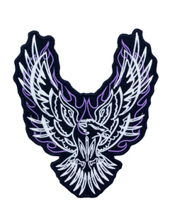 PURPLE Tribal Eagle Patch for Women's Leather Vest Jacket Large Back Patch-STURGIS MIDWEST INC.