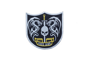 RIDE FREE SHIELD Center Rocker Patches for Vest jacket CP162-STURGIS MIDWEST INC.