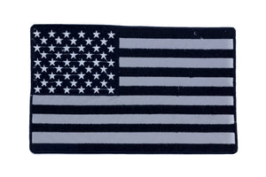 REFLECTIVE U.S. FLAG Black on Reflective Patch for Vest Jacket-STURGIS MIDWEST INC.
