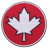 CANADA Flag in Round Red and White Center Iron on Patch for Biker Vest CP192-Center Patches