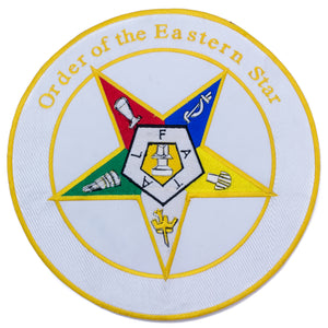 Order of the Eastern Star Patch Center Iron on oes Patch for Biker Vest CP193-STURGIS MIDWEST INC.