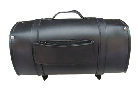 Motorcycle Back Roll Bag Touring Trunk pack Hard Leather size 18x 9 New TB545