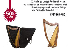 Load image into Gallery viewer, 42 INCH TALL Irish Celtic LEVER Harp 32 String Extra Strings Lever and Carrying case-STURGIS MIDWEST INC.